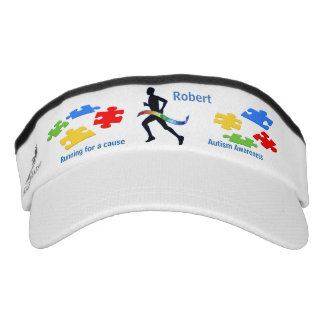 Running for Autism Personalized Visor