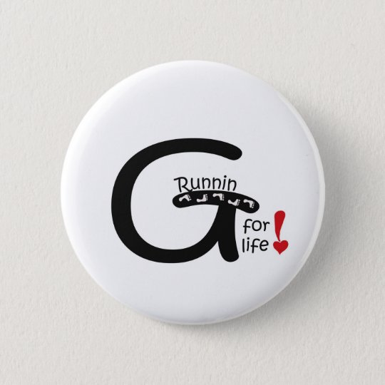 Running for Life 6 Cm Round Badge