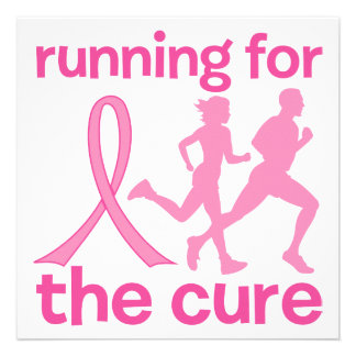 Running For The Cure Custom Invitations