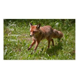 Running fox business card template