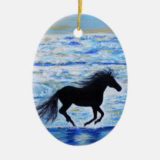 Running Free by the Sea Christmas Ornament