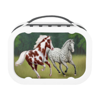 Running Free Western Horses Lunchbox