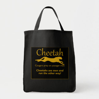 Running from Men Cheetah Tote