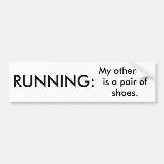 Running Funny Bumper Sticker