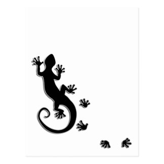 Running Gecko Post Card