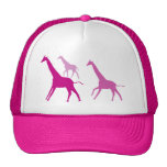 Running Giraffes (Purple) Trucker Hat