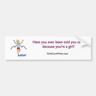 Running Girl Car Bumper Sticker