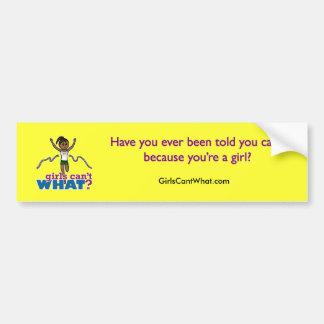 Running Girl in Green Car Bumper Sticker
