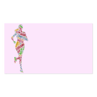 Running girl pack of standard business cards