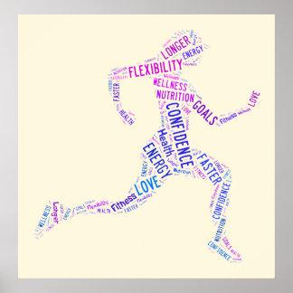 Running girl poster