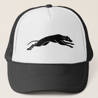 running greyhound trucker hat