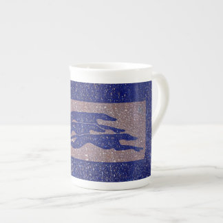 Running greyhounds (a318) bone china mug
