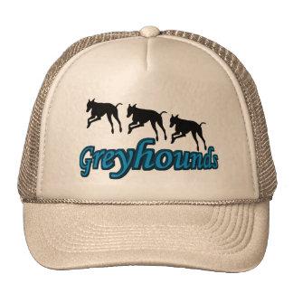 Running Greyhounds Dog Hat