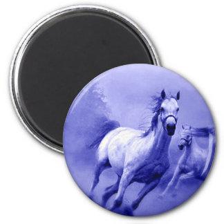 Running Horse 6 Cm Round Magnet