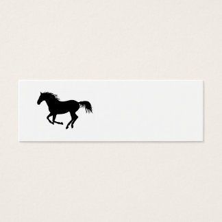Running Horse Black Silhouette Black Horse Print Mini Business Card