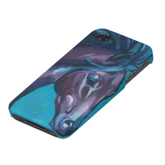 Running Horse Case Savvy iPhone 4 Glossy Finish Ca Cover For iPhone 4