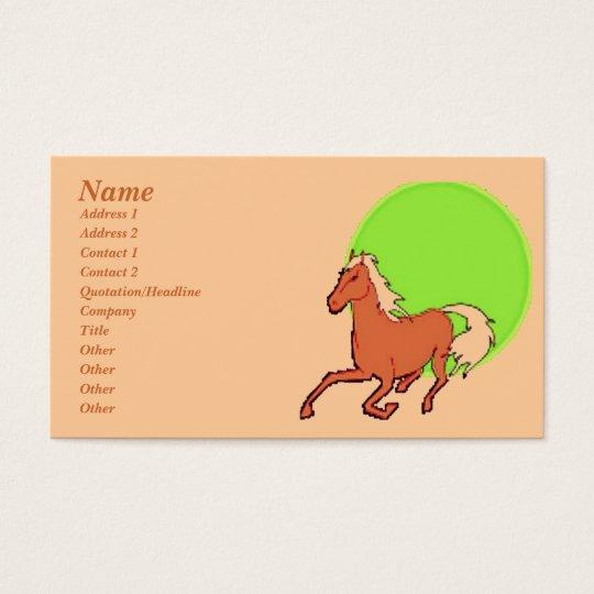 Running Horse Profile Card