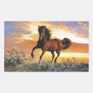 Running Horse Rectangular Sticker