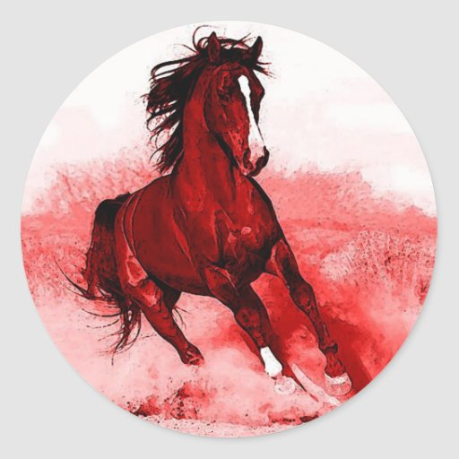 Running Horse Stickers