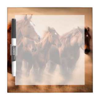 Running horses, blur and flying manes dry erase board