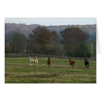 Running horses, Card