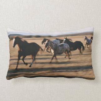 Running Horses Lumbar Cushion