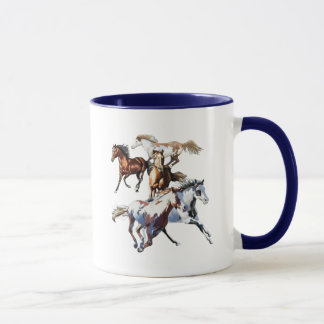 Running Horses Mug