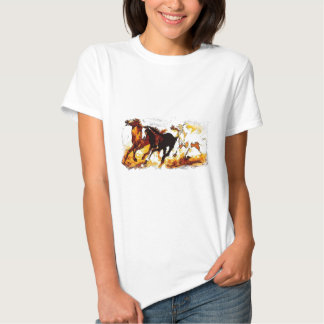Running Horses T Shirts
