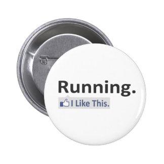 Running...I Like This 6 Cm Round Badge