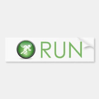 Running Icon Bumpersticker Bumper Sticker