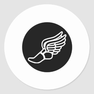 Running Icon Classic Round Sticker