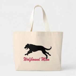 Running Irish Wolfhound Mom Jumbo Tote Bag