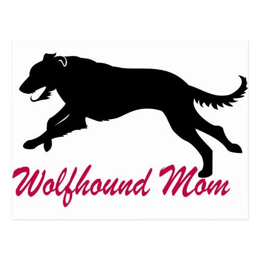 Running Irish Wolfhound Mum Postcard