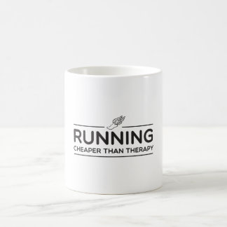 Running is Cheaper than Therapy Morphing Mug