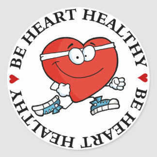 Running is Good Exercise for Your Heart Round Sticker