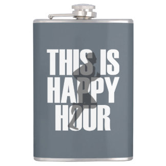 Running Is Happy Hour Flask