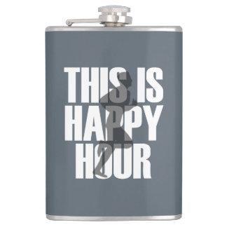 Running Is Happy Hour Hip Flask