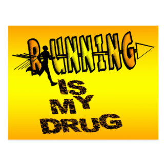 RUNNING IS MY DRUG - CROSS COUNTRY POSTCARD