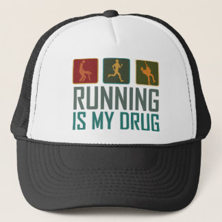Running Is My  Drug Trucker Hat