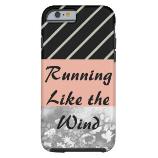 Running Like Wind Apricot Grey Sporty CricketDiane Tough iPhone 6 Case