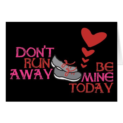 Running Love Card