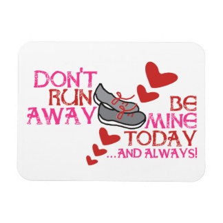 Running Love Rectangle Magnets