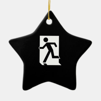 Running Man Emergency Fire Exit Sign Ceramic Star Decoration