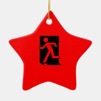 Running Man Emergency Fire Exit Sign Ceramic Star Decoration