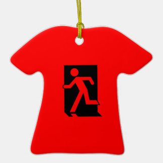 Running Man Emergency Fire Exit Sign Christmas Tree Ornaments
