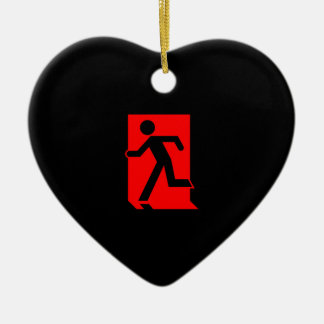 Running Man Emergency Fire Exit Sign Ornament