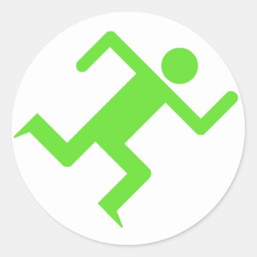Running Man Green Sticker