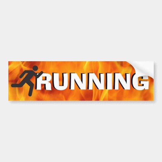 Running Man Silhouette Bumper Sticker