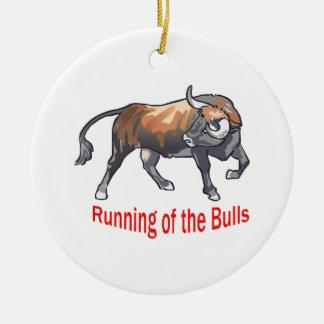 Running Of The Bulls Christmas Ornament