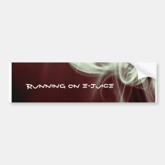 Running on e-juice bumper sticker